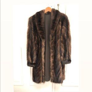 Jackets & Blazers - Vintage Authentic Mink Fur Coat